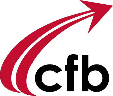 The district logo - consisting of the lower case letters, cfb, with a red arrow swooping from the bottom - swooping up and to the right, over the cfb letters
