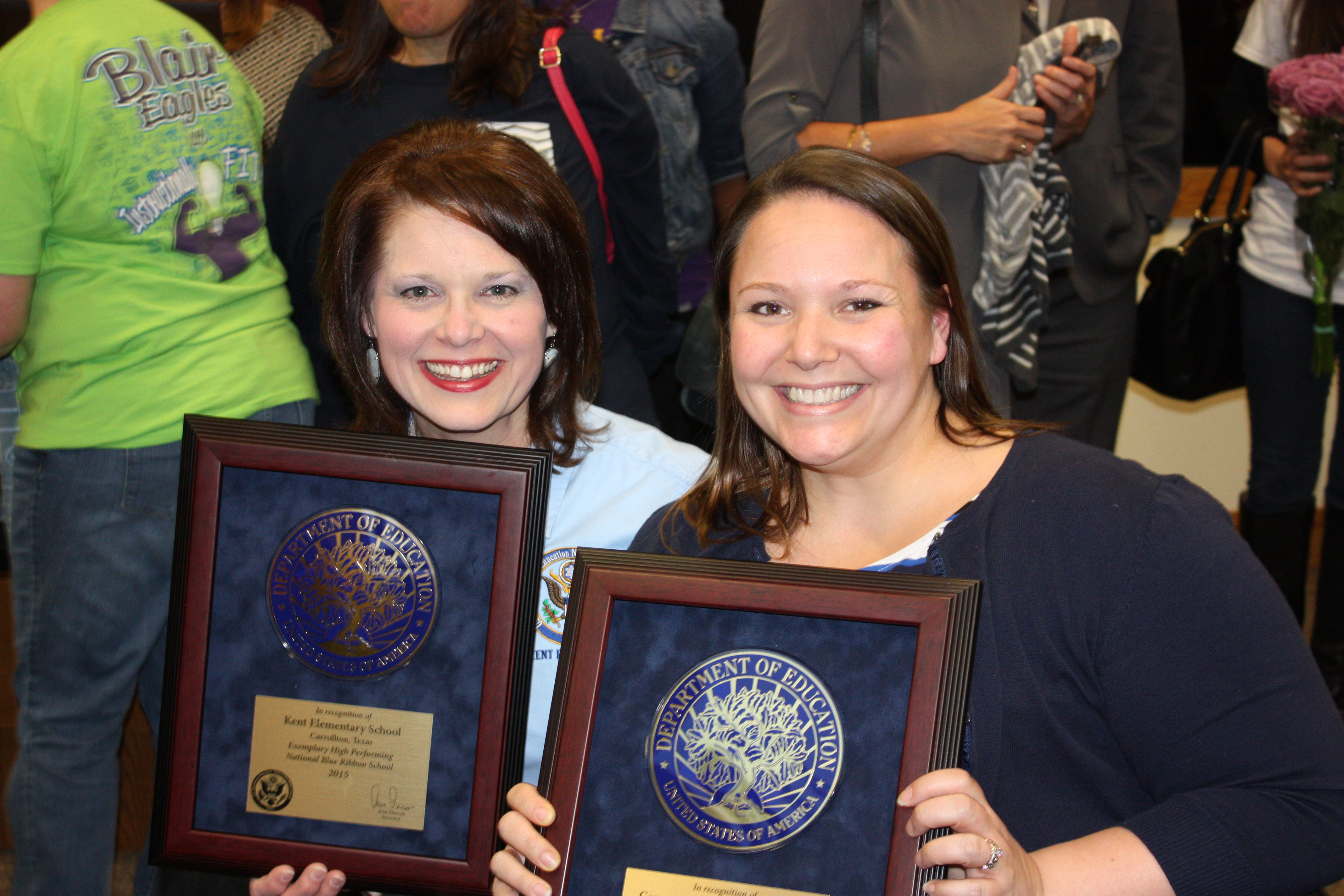 two principals from Kent & Country Place Elementary