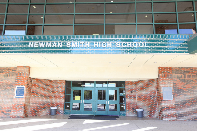 front entrance of smith high school