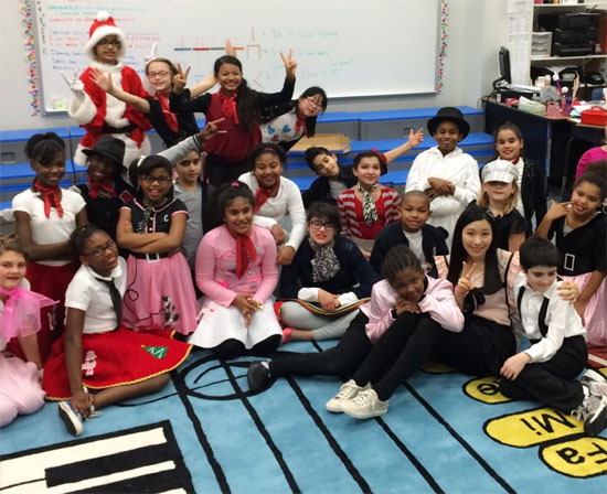 group of students dressed in costumes for Choir