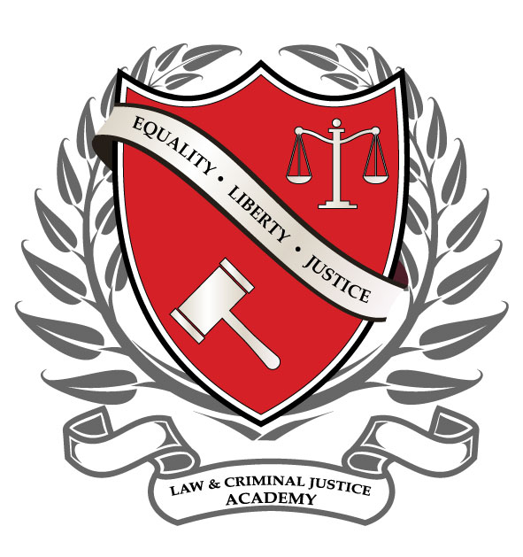 law and criminal justice academy mustangs logo
