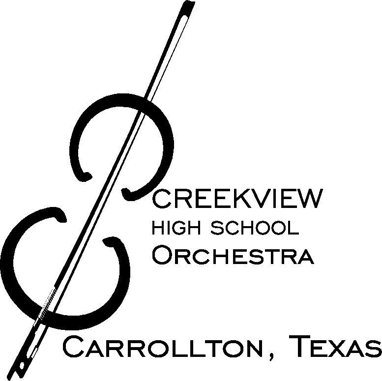 violin logo for creekview orchestra