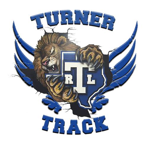 Turner Rack logo with lion mascot