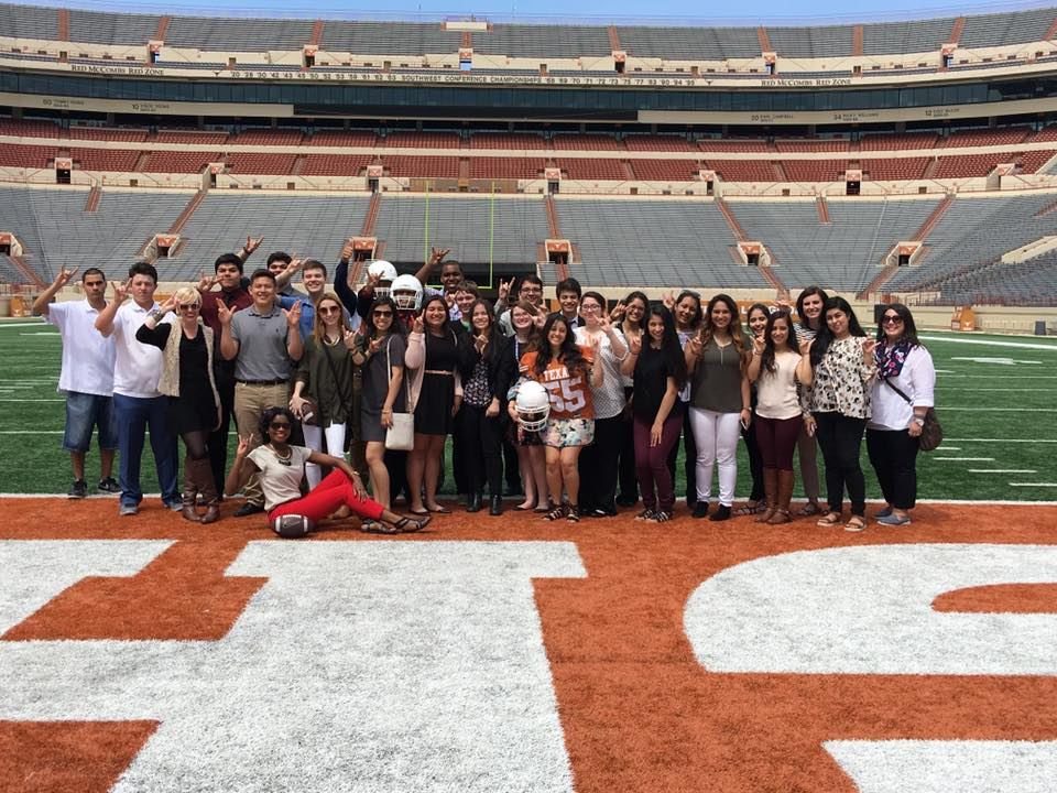 Turner students on the UT Austin Field