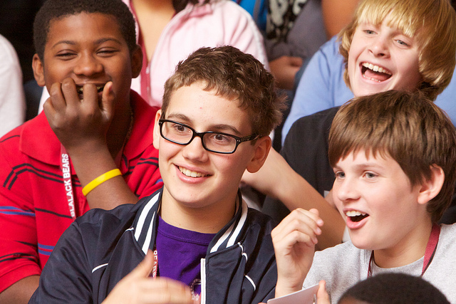 4 Blalack students laughing