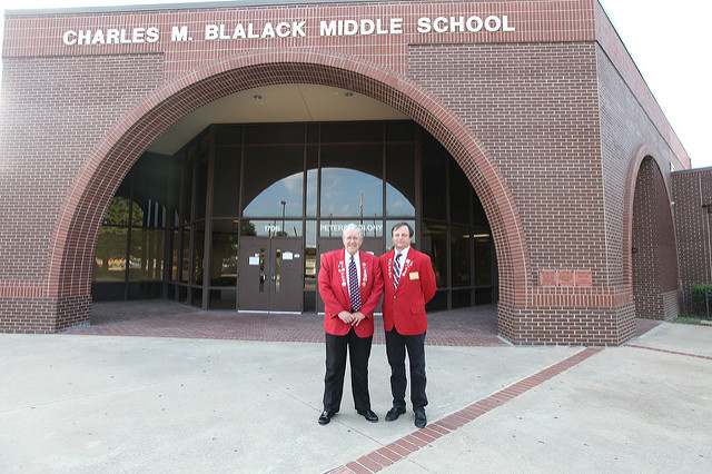 Front of blalack middle school