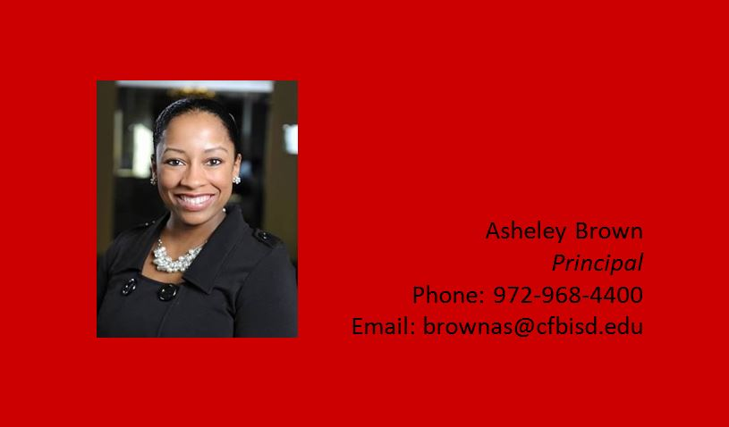 Principal of Perry Middle School, Asheley Brown
