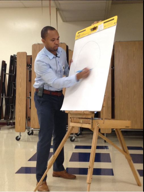 AG Ford drawing on a board