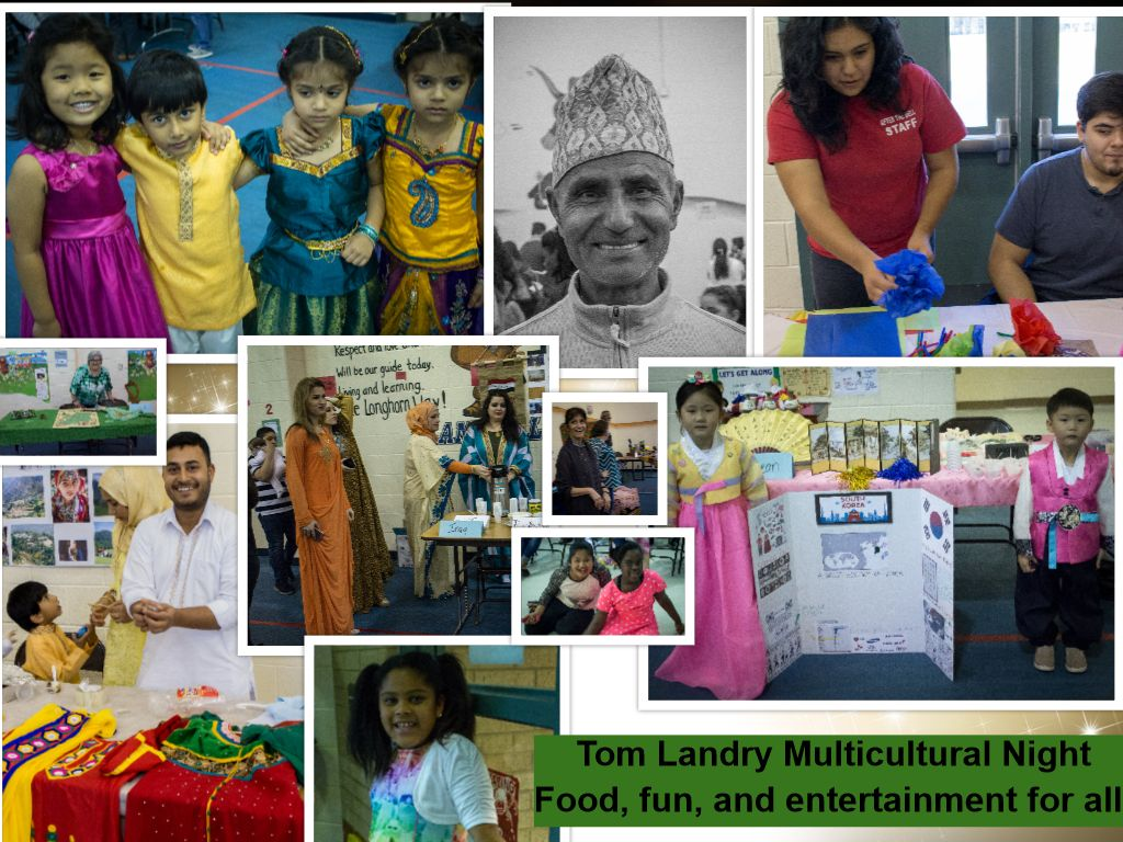Collage of multicultural night. Various cultures wearing their traditional clothing.