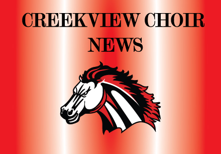 Creekview Choir with Mustang logo