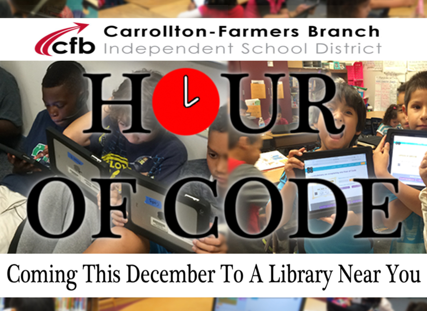 Hour of code, coming this december to a library near you.