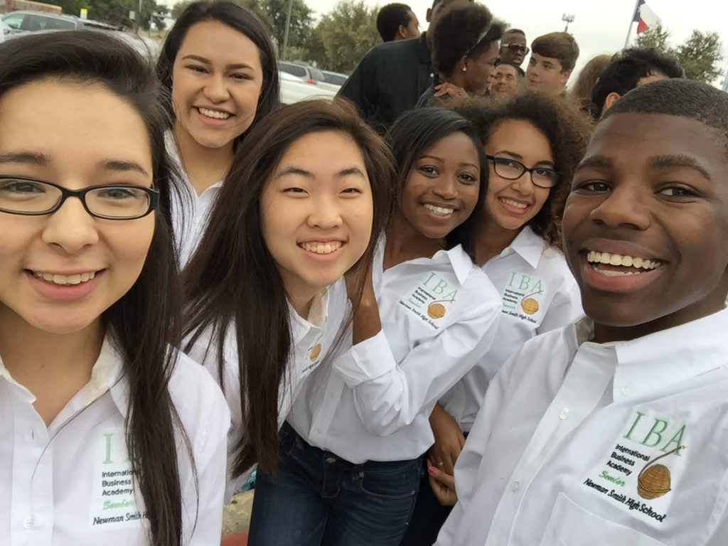 A group of students from the International business academy on a field trip
