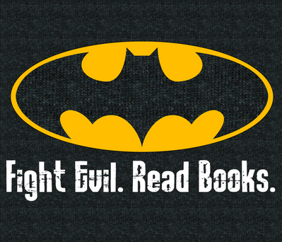 Literacy Night. Fight Evil. Read Books.