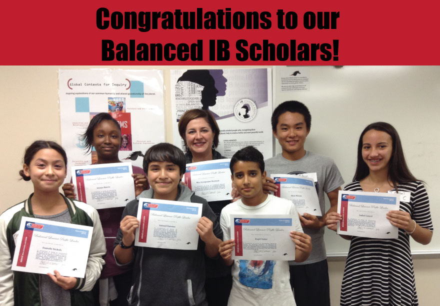 Congratulations to our Balanced IB Scholars