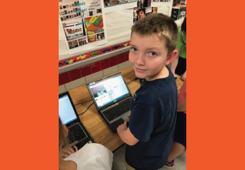 Stark Elementary Student at STEAM Night Hosted by Stark Elementary