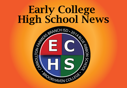 Early College High School News With ECHS emblem