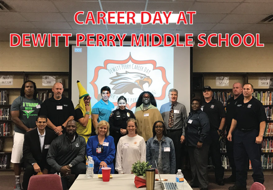 Career Day at DeWitt Perry Middle School