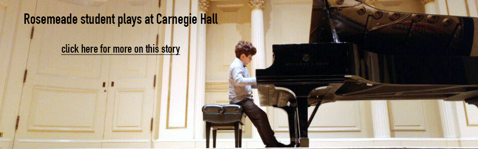 Rosemeade student performs at Carnegie Hall