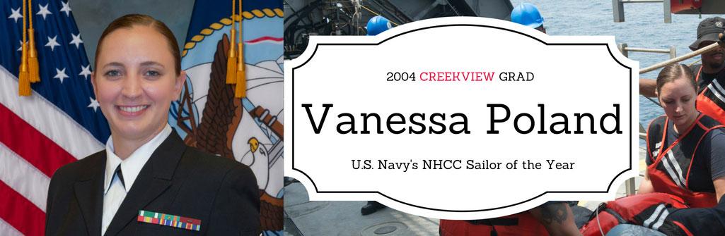 Vanessa Poland, CHS Graduate, Naval Petty Officer