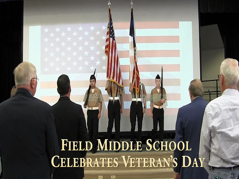 Field middle School Celebrates Veteran's Day