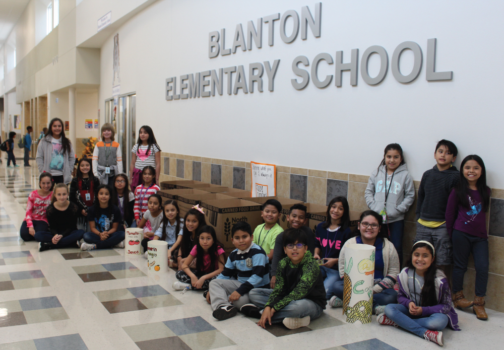 Blanton Elementary Student Council Canned Food Drive