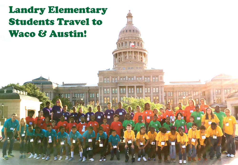 Tom Landry Elementary fourth graders traveled to Waco and Austin on an Education in Action Discover Texas Field Trip.
