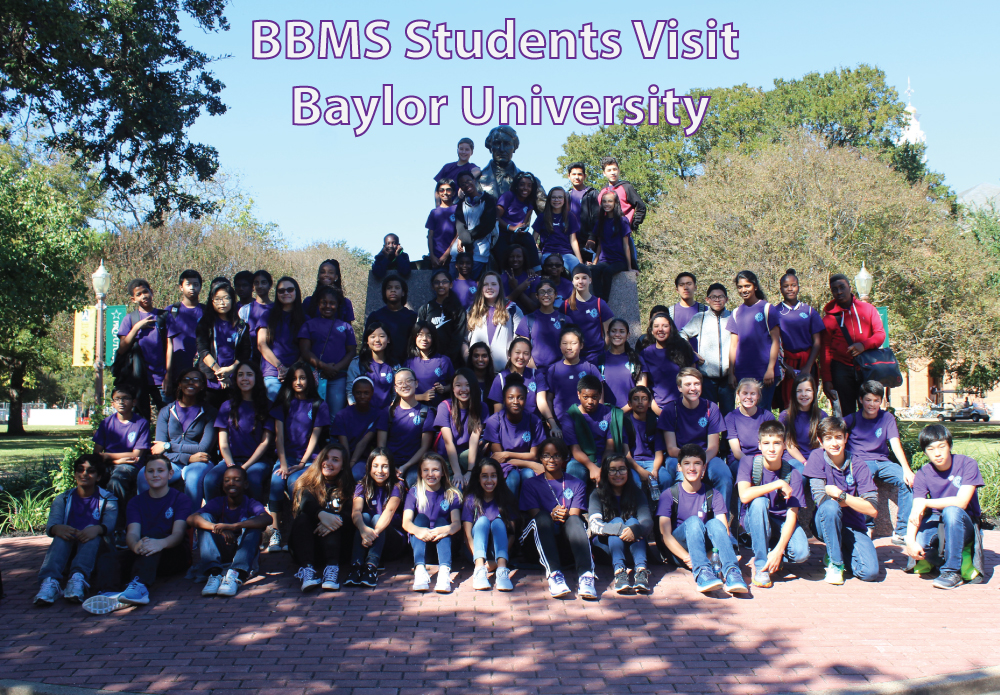 The Barbara Bush Middle School Orchestra traveled to Waco to visit Baylor University for their annual college trip on November 15, 2016