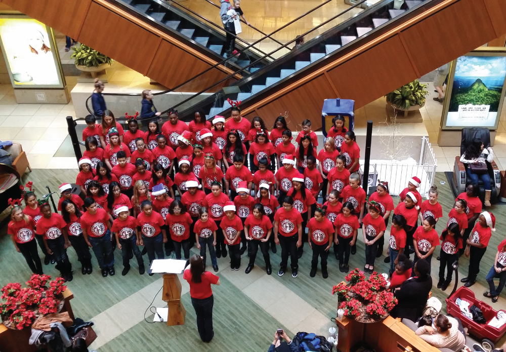 CFBISD Elementary Honor Choir Performs Winter Concert at the Shops at Willow Bend