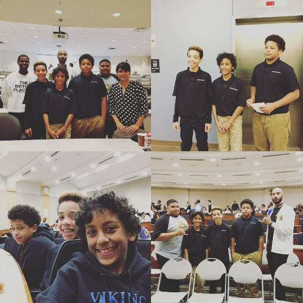 "We are so very proud of 8th graders Tony Baker, Nick Goins, and Andre Robinson! They competed in the ""Aiming for the Stars African American Male Academic Bowl"" this past Saturday at University of Texas at Dallas. This experience involved studying, competing, and making it all the way to the fourth round, further than any other team in our district! They represented Vivian Field and our sponsors, Alpha Phi Alpha fraternity, very well! Way to go, Vikings!"