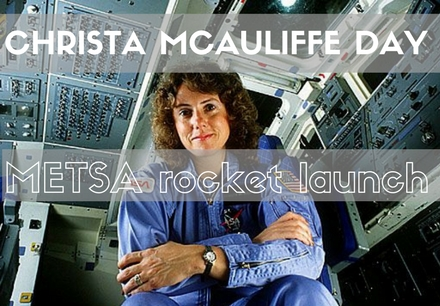 METSA launches rockets in honor of Christa McAuliffe Day