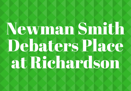 Newman Smith Debaters Place at Richardson