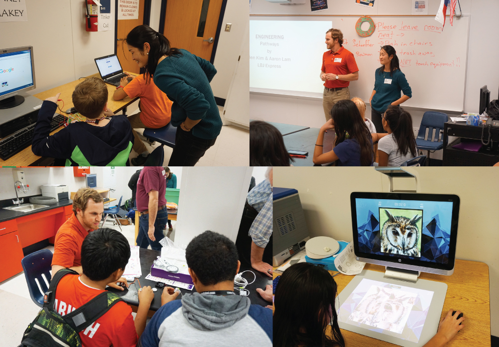 LBJ Express Engineers Attend MakerSpace Session at Blalack Middle School