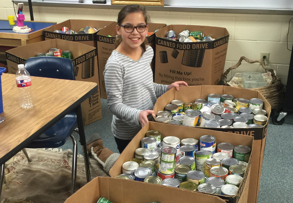 Carrollton Elementary students collected canned good for three weeks in December. They collected 6 food bank boxes collectively. These boxes were given to North Texas Food Bank. Way to go Carrollton Elementary!
