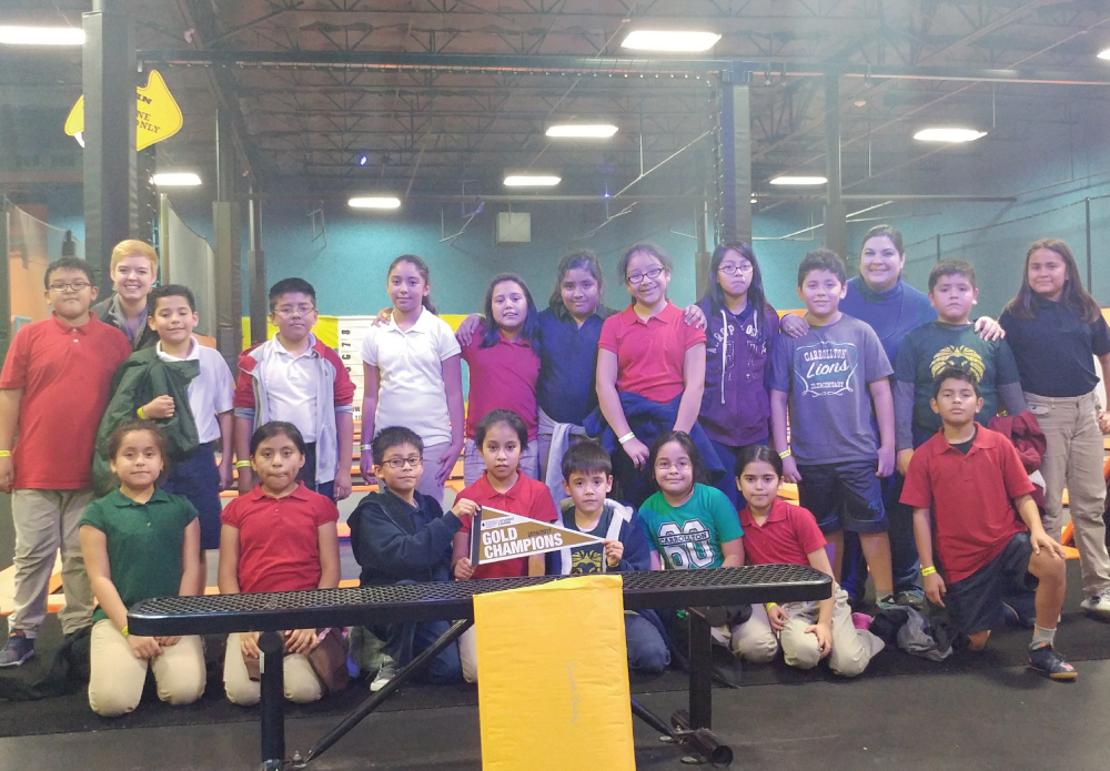 Carrollton Elementary held its Leukemia Lymphoma Society funds drive throughout October. They reached their goal of $3000 (double what was raised in the previous year). By itself, Mrs. Grilli's class raised over $400 towards the fund drive. As a result, they were able to go to Urban Air Trampoline and then to Olive Garden. Great work, Carrollton Elementary!