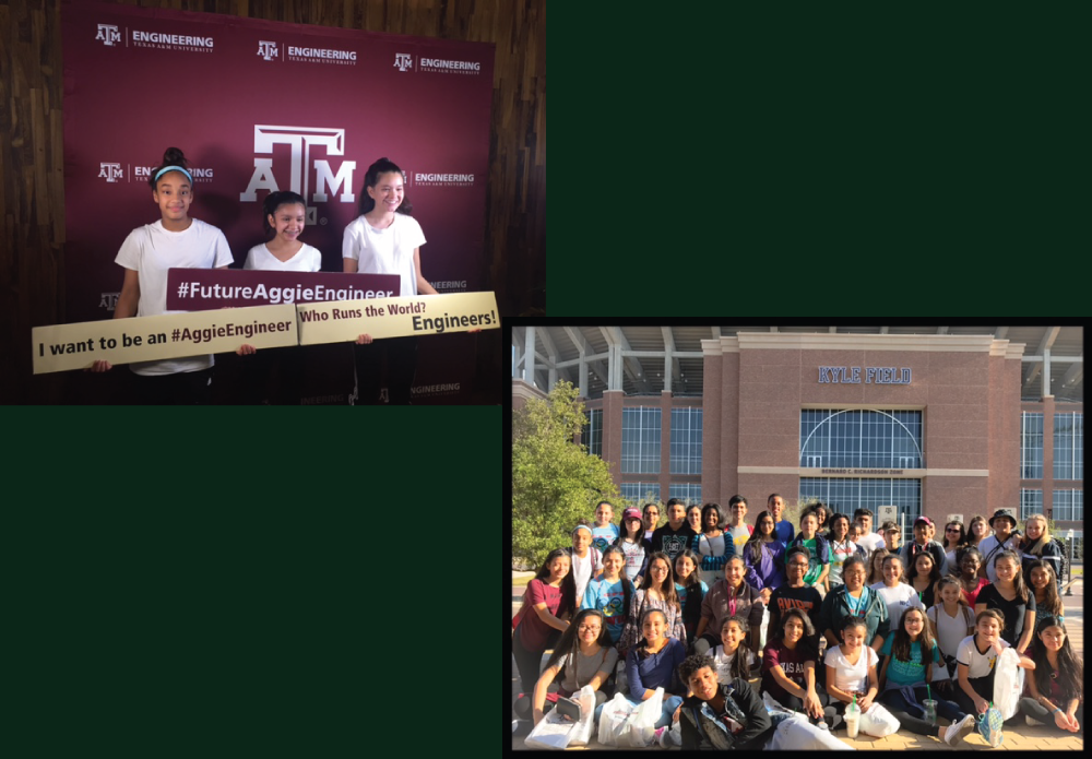 AVID Students from Polk Middle School visit Texas A&M