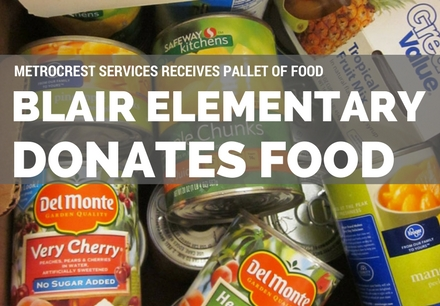 Blair Donates Food Pallet to Metrocrest Services