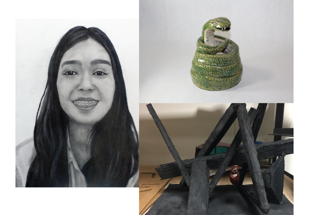 The TVAA High School Art Competition is open to all 10th, 11th and 12th grade high school students who reside in the State of Texas. These students were chosen out of thousands of artworks.