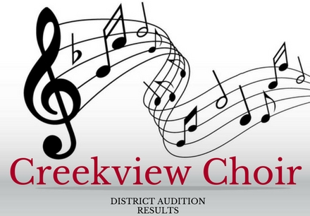 Creekview Choir Audition Results