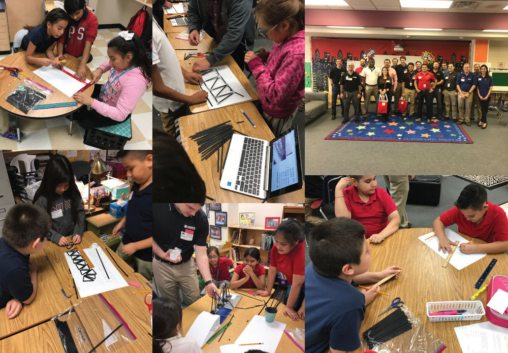 Eighteen Lennox engineers from various engineering backgrounds came to Central Elementary on February 23rd to teach 4th graders about the joys of their jobs and to celebrate engineers week.