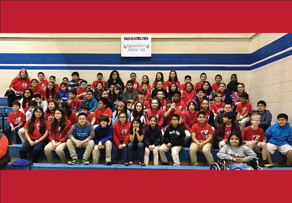 Farmers Branch Elementary students visit Vivian Field middle School