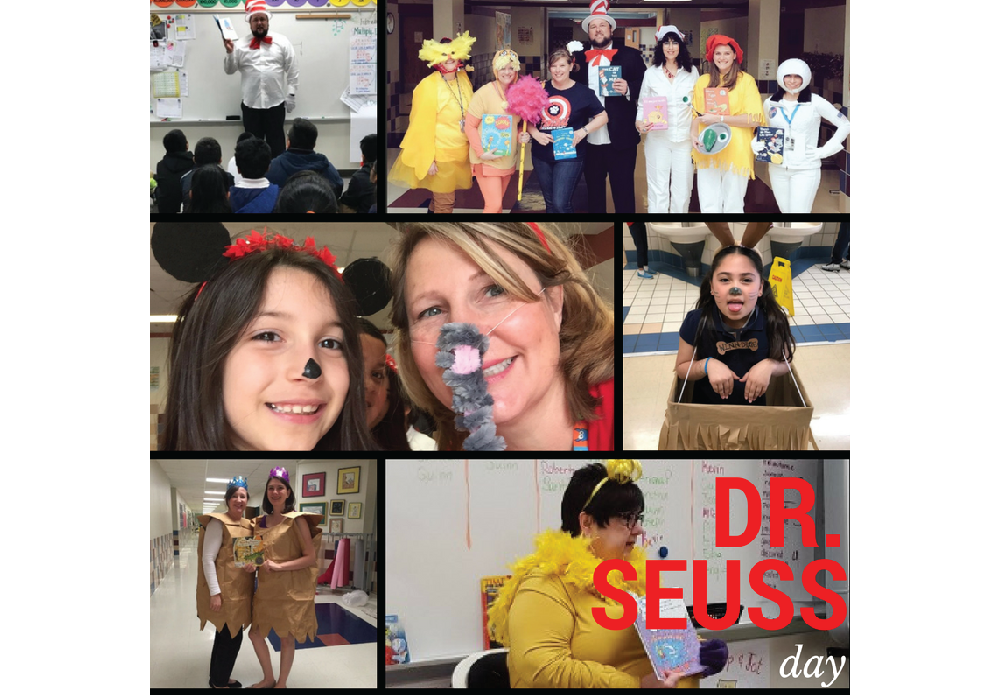 Central Elementary's Instructional Leadership Team transformed into many characters from the works of Dr. Seuss and traveled to each classroom to share his wondrous stories. Students enjoyed short stories and reenactments throughout the day. Our celebration concluded with our annual Storybook Parade, with characters from popular stories like Diary of a Wimpy Kid and Because of Winn Dixie, Pinkalicious and Mouse, and even nonfiction characters like sharks and penguins! It was a fantastically fun day!