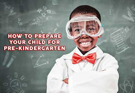 pre-k student dressed as a scientist