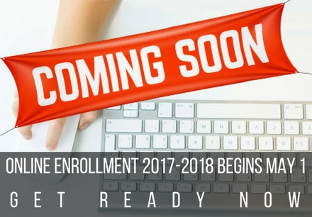 COMING SOON - Online Enrollment for 2017-2018