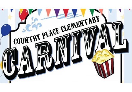 Bring the whole family to the third annual Country Place Spring Carnival, RAIN OR SHINE! We hope you can join us. WHEN: Friday, 4/21, from 5:30-8pm WHERE: Country Place Elementary (2115 Raintree Drive)
