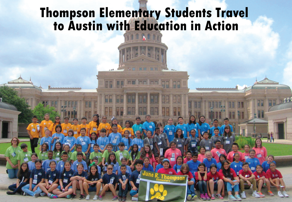 Thompson Elementary Students Travel to Austin with Education in Action