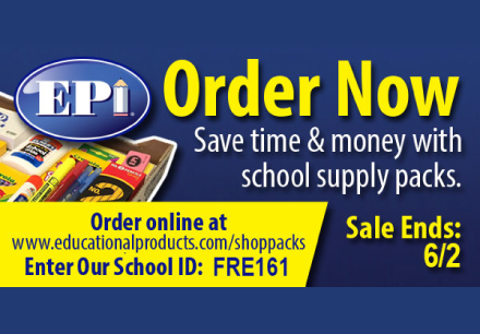 EPI, Order School Supplies Now