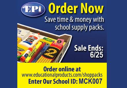 EPI School Supplies for McKamy Elementary