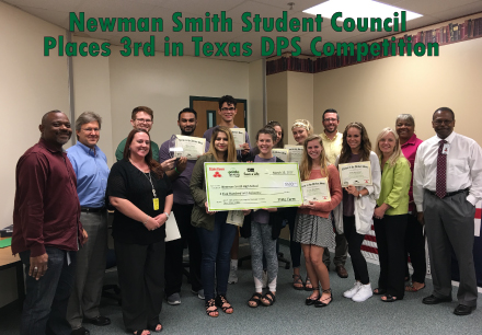 Newman Smith Student Council Places 3rd in Texas DPS Competition