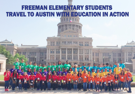Fourth graders from Carrollton-Farmers Branch ISD's Freeman Elementary traveled to Waco and Austin on an Education in Action Discover Texas Field Trip