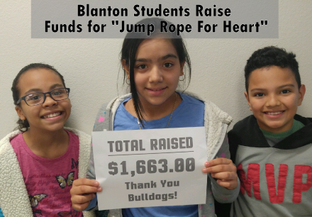 "Blanton Students Raise Funds for ""Jump Rope For Heart"""